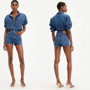 Levi's Premium Ribcage High Rise Jeans Shorts